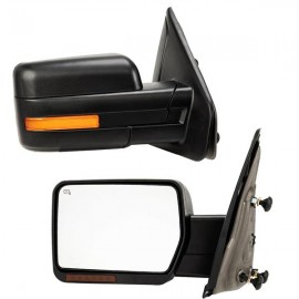[LED Sequential Signal] Left Right For 07-14 Ford F150 Power Heated Side Mirrors