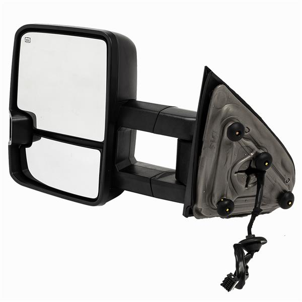 For 2014-2017  GMC   Sierra  1500 Pair Smoked LED Tow Mirrors   Power Heated