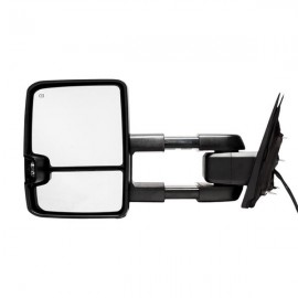 Towing Mirrors For 2014-2017 Silverado GMC Sierra Power Heated Smoke Turn Signal