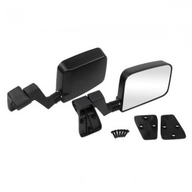 Manual Rear View Mirrors For 1987-2002 Jeep Wrangler Passenger Driver Side Pair