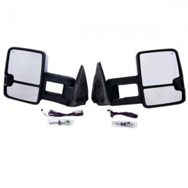 CHROME For 03-06 Chevy Silverado Sierra Towing Mirrors Power Heated Signals Pair