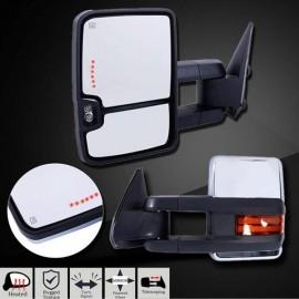 CHROME For 03-06 Chevy Silverado Sierra Towing Mirrors Power Heated Signals Pair