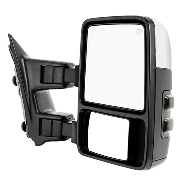 Chrome Mirrors For 2008-2016 F250 F350 F450 Power Towing Heated Turn Signal Pair