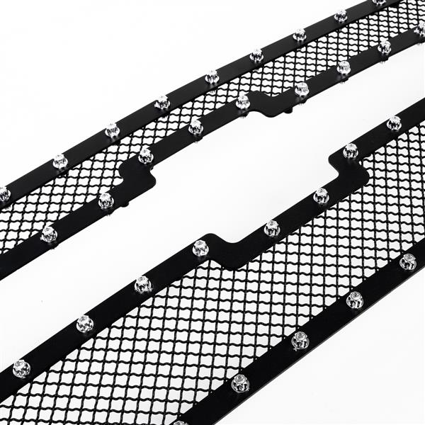 2PCS Stainless Steel Rivet Car Grille for 2008-2012 Chevy Malibu Black Coating