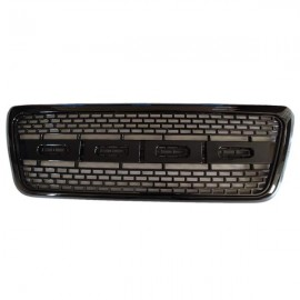 For 04-08 F150 Black ABS Raptor Style Front Bumper Upper Hood Mesh Grille W / Mount Rack