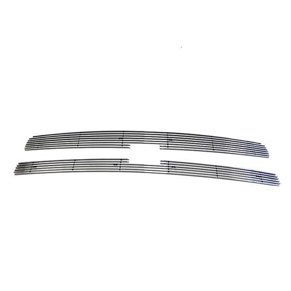 2pcs 4mm Horizontal Overlay Billet Grilles for 07-13 Chevrolet Silverado 1500