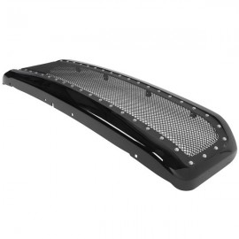 ABS Plastic Car Front Bumper Grille for 1999-2004 F250 F35 ABS Plastic Stainless Steel Coating QH-FD-023 Black