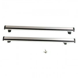 "2 Pairs 48"" Universal Aluminum Cargo Roof Rack with Lock Black"