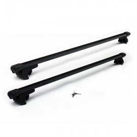"2pcs 48"" Iron Roof Racks Black"