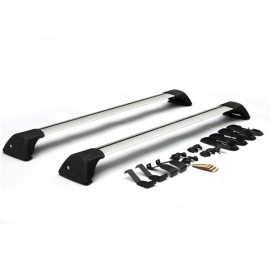 "2pcs 48"" Universal Aluminum Roof Racks with Locks and Keys"