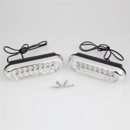2pcs Auto 16 LED Fog Lights 12V White