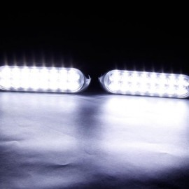 2pcs Auto 16 LED Fog Lights 12V White