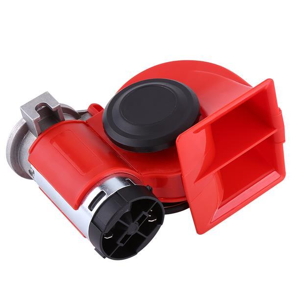 12V Dual Tone Trumpet Super Loud Electric Air Horn Snail Electric Pump Siren Car Motorcycle