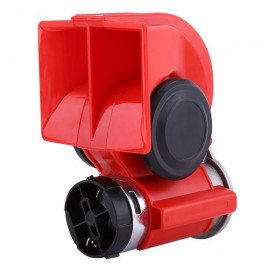 12V Dual Tone Trumpet Super Loud Electric Air Horn Snail Electric Pump Siren Car Motorcycle