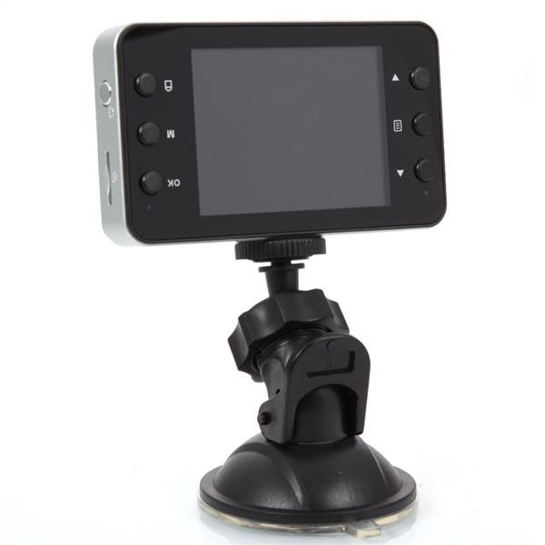 K6000 2.0-Inch 2-LED Wide-angle Lens Car Recorder with Night Vision Black